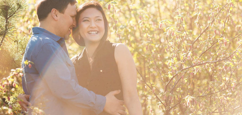 Helen & Bryan - Olympic Village & Stanley Park engagement shoot