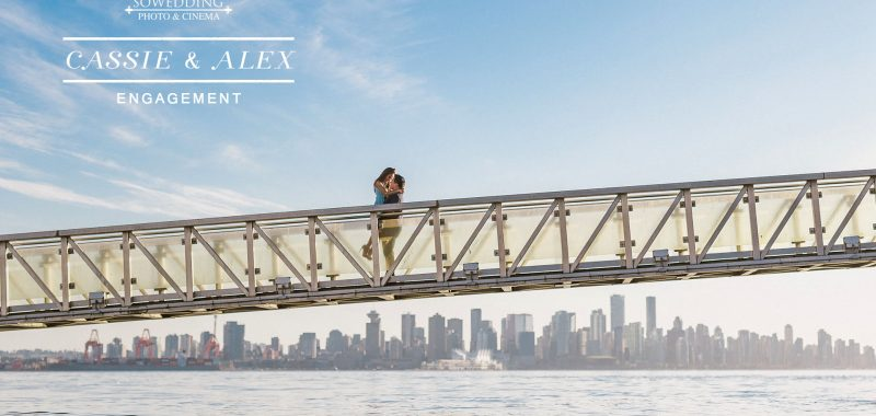 VANCOUVER ENGAGEMENT PHOTOSHOOT | CASSIE & ALEX | LONSDALE QUAY