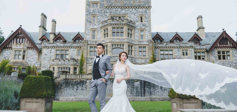 VANCOUVER PRE-WEDDING PHOTOGRAPHY | ALICE AND BASIL |  Hatley Castle, Baston Square and  Paralment building, Victoria, BC